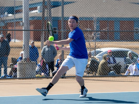 Kennedy McKay of the Havre boys' tennis team.