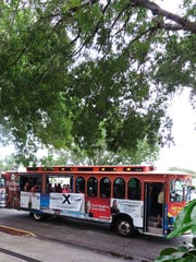 The monthly Cape Coral trolley event often draws 1,200
