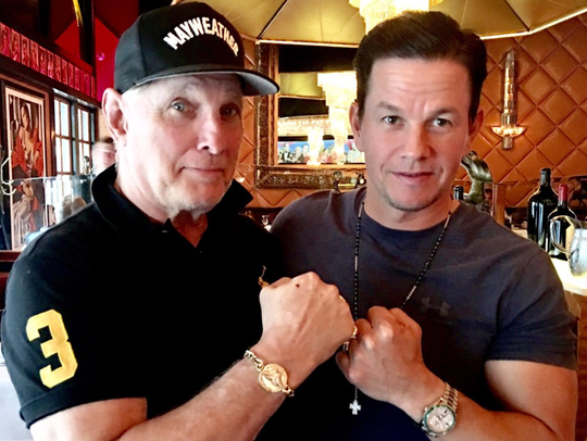 Jeff Ruby and Mark Wahlberg.