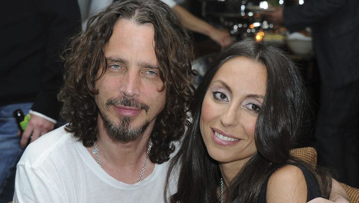 Chris Cornell and wife Vicky Karayiannis, seen here