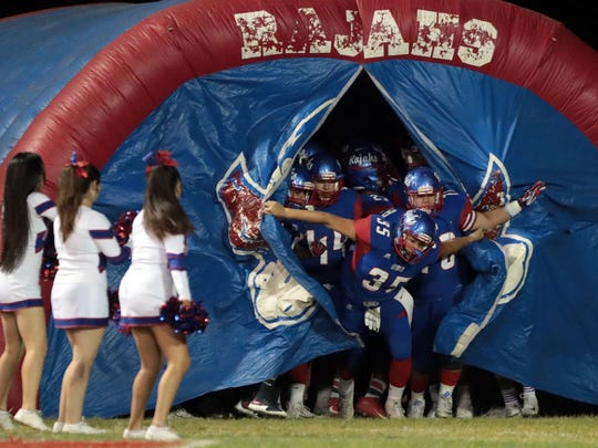 Palm Desert and Indio football action on Friday, November 3 2017 in Indio.