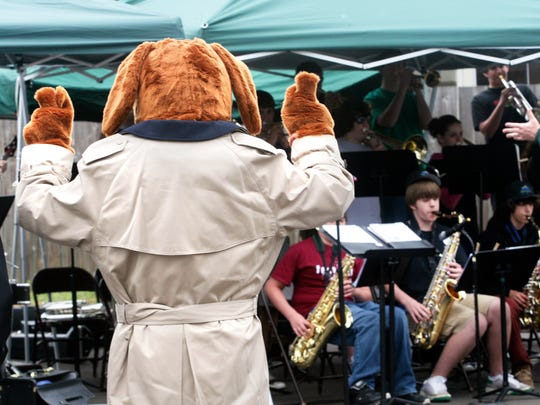 McGruff the Crime Dog playfully conducts the Walker Middle School jazz band during the West Salem Spring Resource Fair in 2008. The Edgewater Partnership will bring back the resource fair, including free health screenings, 10 a..m to 2 p.m. Saturday, June 21.