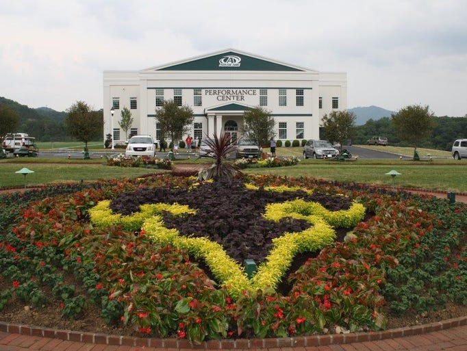 A look at the New Orleans Saints' lavish new digs at the Greenbrier in White Sulphur Springs, West Virginia.