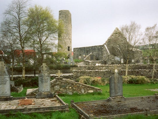 A modern day view of the burial ground in Aughagower,