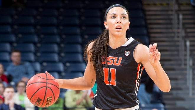 Junior guard Gabby Hanson has averaged 18.5 points in the Beavers' last two games.