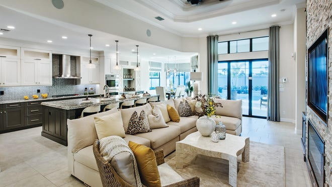 The Serino Caribbean, available for move-in this fall, features an open floor plan, like the one shown.