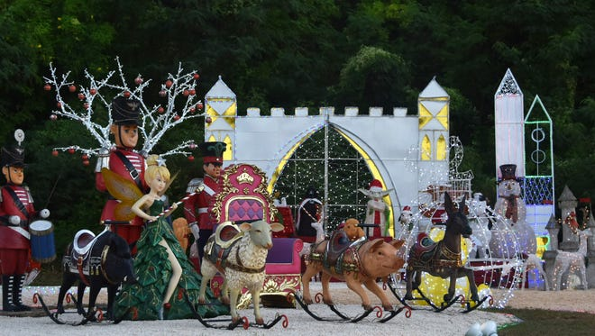 Lights were turned on for Guam Visitors BureauÕs Tumon Christmas Village on Friday, Nov. 27. The display is located across Pale San Vitores Road from GVB's office at Gov. Joseph Flores Memorial Park in Ypao.