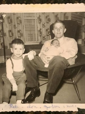 The author as a baby with his father, Donald Walsh, and older brother Robert.