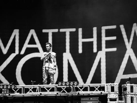 Matthew Koma performs at Ultra Music Festival 2015. Koma will be performing Saturday April 11 and 18 at the Coachella Valley Music and Arts Festival.