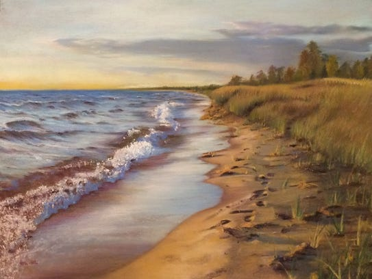 Artist Mimi Zhong'spastels will be on display at the