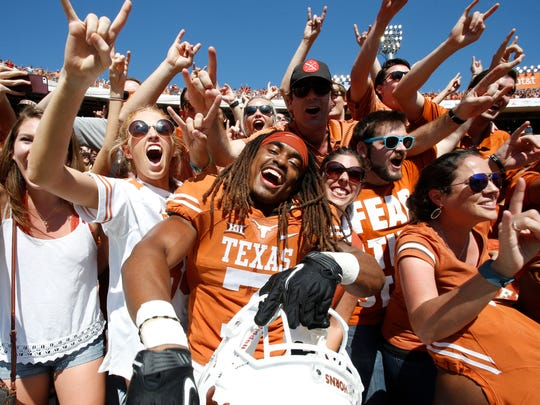 Marcus Johnson (center) and Texas relished every second