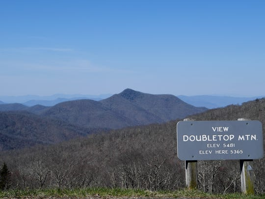 The view from the Double Top Mountain overlook on the Blue Ridge Parkway had been recently clearing April 13, 2018.