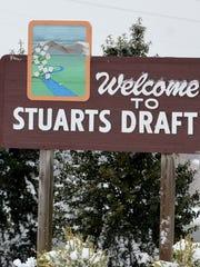 Stuarts Draft sign.