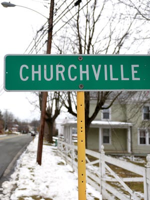 Churchville sign.