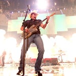 Brad Paisley performs onstage during the 2015 iHeartRadio Country Festival at The Frank Erwin Center on May 2, 2015 in Austin, Texas.