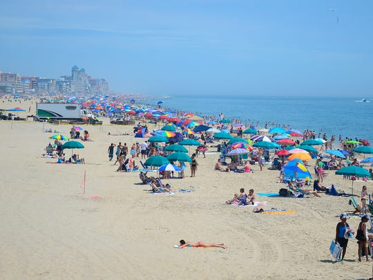 The beaches in Ocean City, Md. are full of swimmers