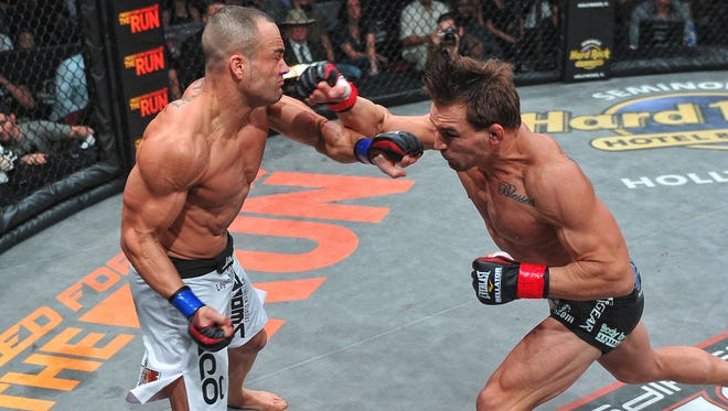 Eddie Alvarez, left, lost to Michael Chandler in November 2011. They will finally have a rematch on Nov. 2