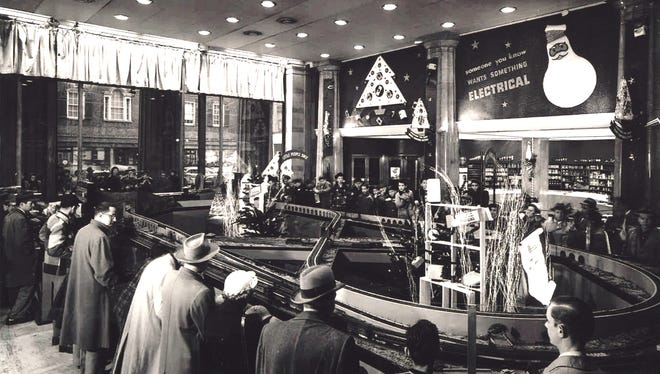 The Duke Energy holiday trains have been a Cincinnati tradition since 1946. Photograph courtesy of the Cincinnati Museum Center.