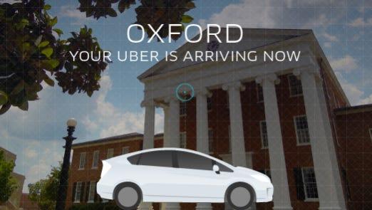 Uber in Oxford