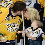 Predators celebrate Mike Fisher's 1,000th NHL game