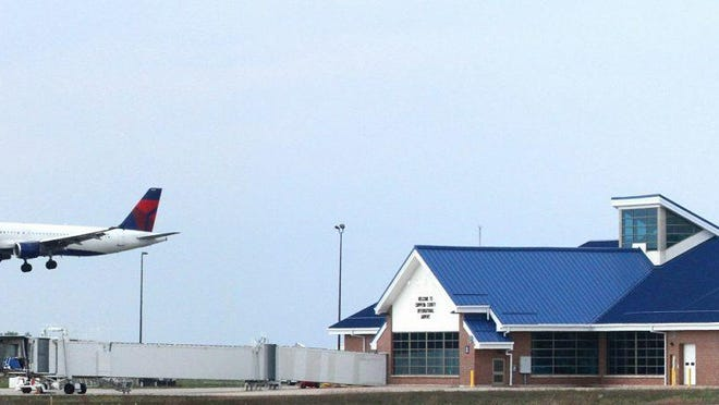 Chippewa County International Airport in Kinross, as pictured.
