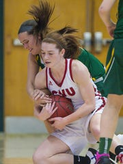 CVU's Sadie Otley, front, gets to a loose ball in front