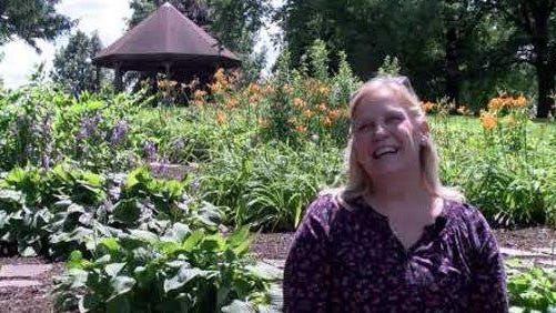 Marilyn DeMay pictured in the Florence Love Wildflower Garden at Richmond Hill Park