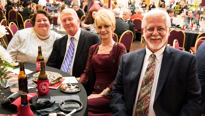 Honoree Richard Williamson with his table at the event.