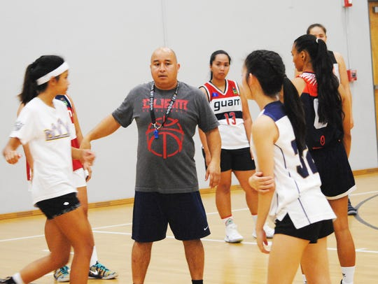 Guam women's national basketball team coach Eddie Pelkey