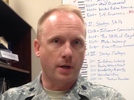 U.S. Air Force Lt. Col. Adam Stone