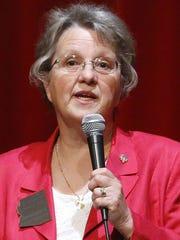 "Schools chief Diane Douglas speaks during her  ""We"