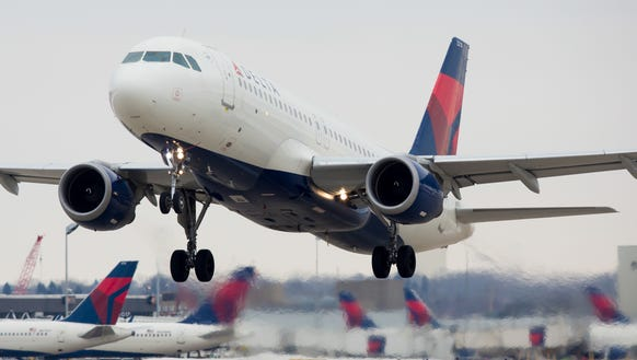 This file photo from January 2017 shows a Delta Air