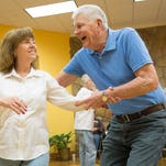Grand Spinners square dancers hold a workshop at Kennedy Library