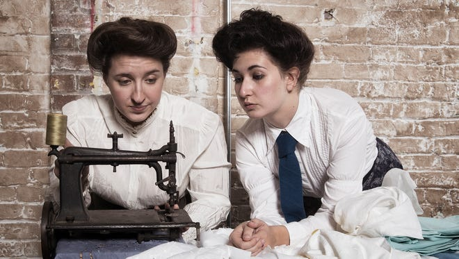 """Valerie Meiss and Samantha Stewart play workers in the Triangle Shirtwaist Factory in David Hopes' historical drama """"Washington Place."""""""