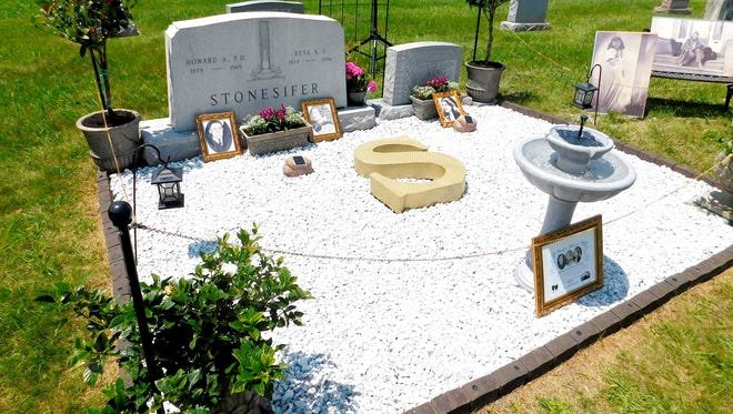 The Stonesifer Memorial Garden in historic Mount Carmel Cemetery was unveiled to the Littlestown Community on May 28 honoring Myrtle Louise Stonesifer-King and her parents, Dr. Howard A. and Etta S. F. (Crouse) Stonesifer.