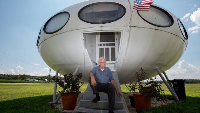 Richard Garrett, is the current tenant of the Futuro house in Milton.
