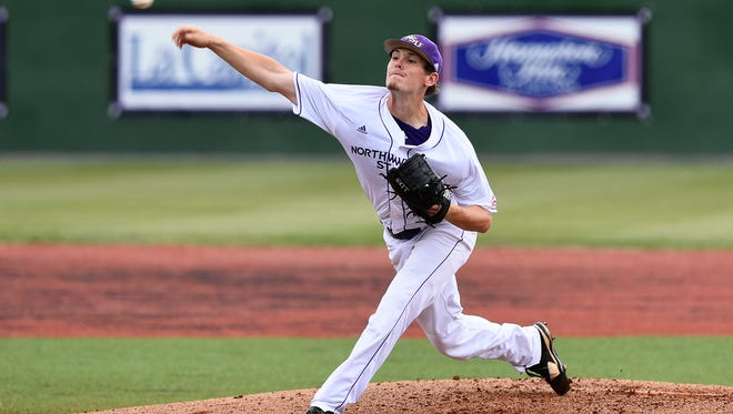 Northwestern State pitcher Tim Winders is scheduled to start at Little Rock on Tuesday.