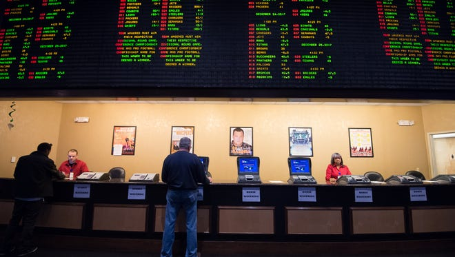 Sports betting at Dover Hotel and Casino in Dover.