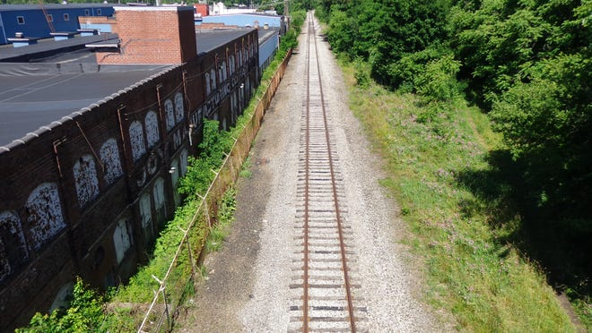 A look at the railroad tracks from the North Broadway bridge in New Philadelphia.