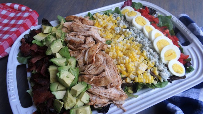 Your local farmers market should have many of the ingredients to make this All American Cobb Salad.
