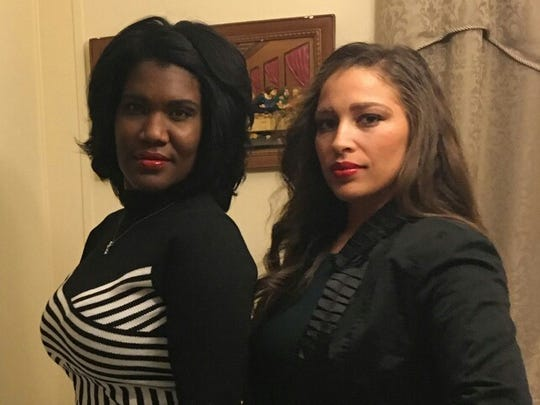 Sisters Tessie Marroquin, left, and Natalie Young are