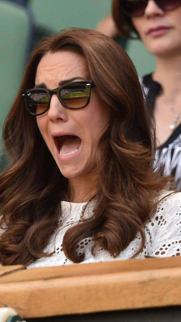 Duchess Kate's open mouth