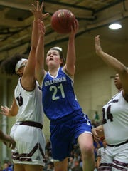 Millbrook's Erin Fox (21) puts up a shot against Syracuse