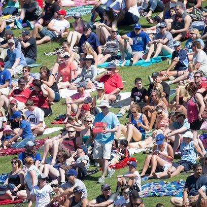Baseball fans watch the hometown Diamondbacks take