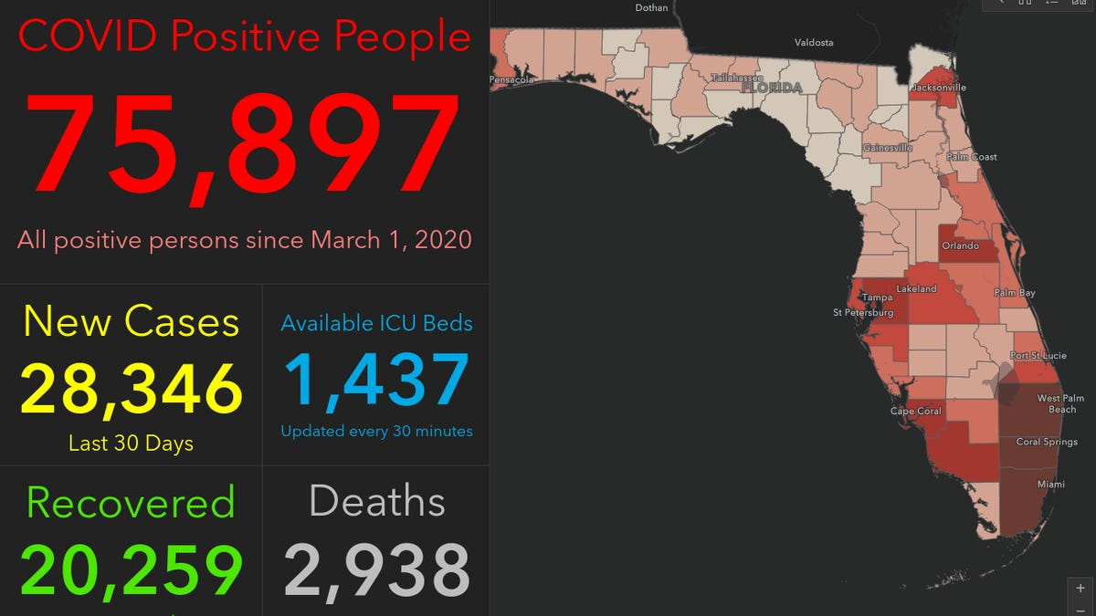 Fired Scientist Builds Dashboard Showing More Florida Covid 19 Cases