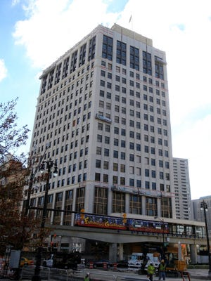 The 19-story David Whitney building served for many years as the locale of doctors and dentists but closed in 1999.