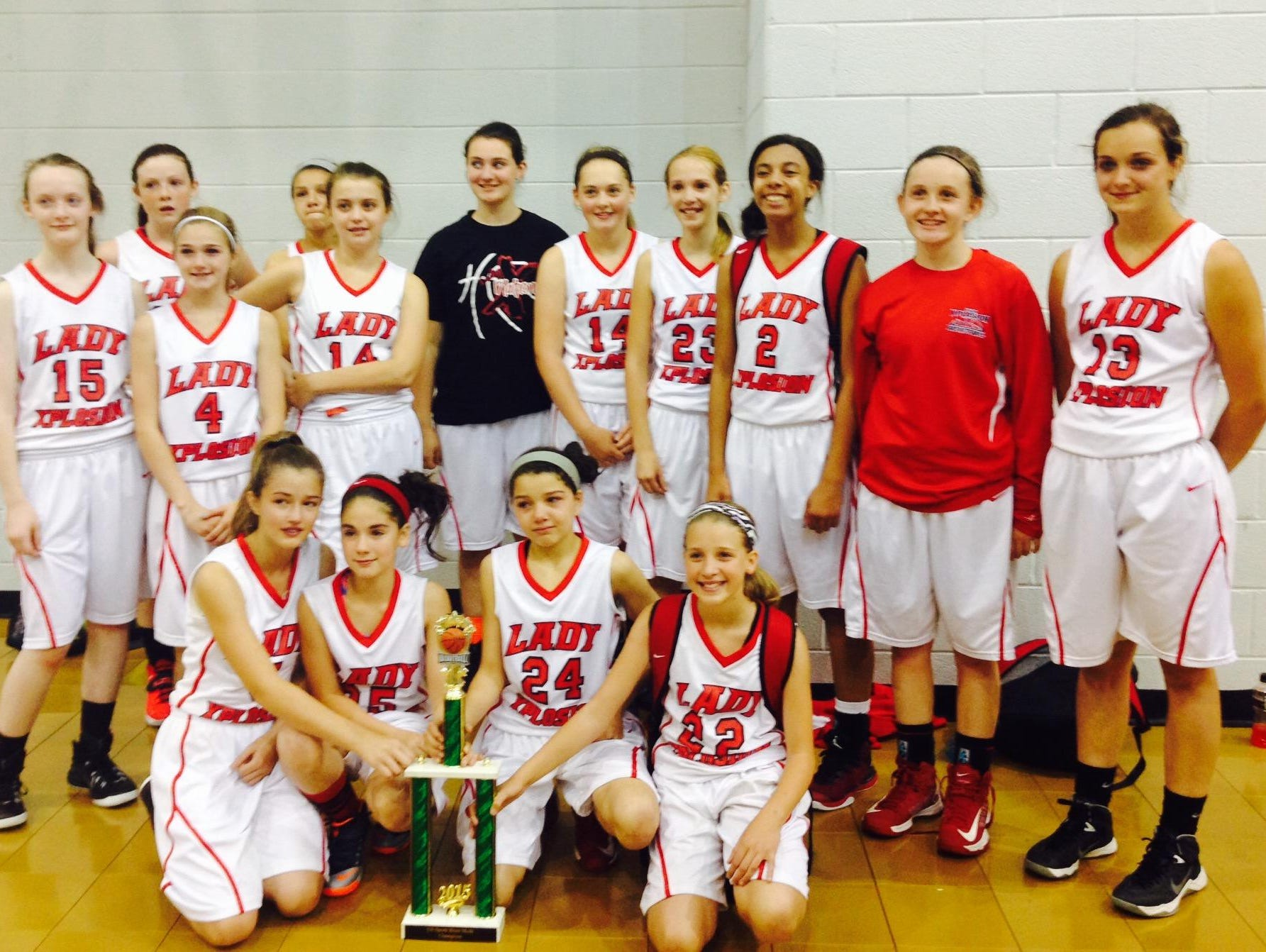The Lady Xplosion Basketball Club won a pair of championships at this past weekend's Hoops for a Cure tournament in Greensboro.