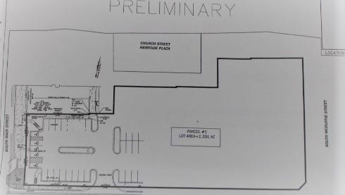 Plans call for a national brand upper scale hotel with no less than 100 guest rooms to be built in the Church Street parking lot in downtown Anderson.