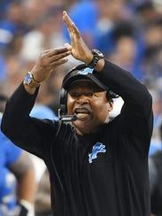 Lions head coach Jim Caldwell