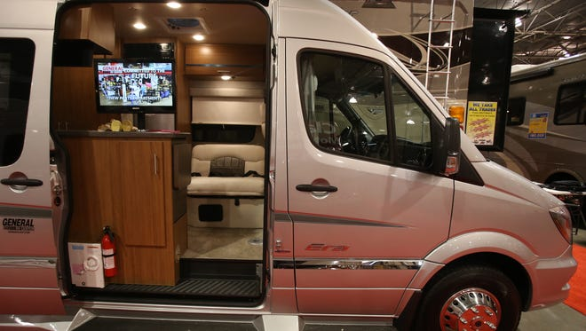 The Winnebago Mercedes Cruser on display at the Camper and RV show held at the Suburban Collection Showplace in Novi on Thursday, Feb. 5, 2015.